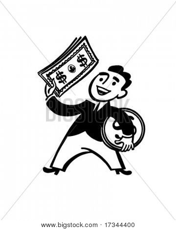 Money Man - Retro Clip Art