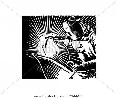 Arc Welder - Retro Clip Art