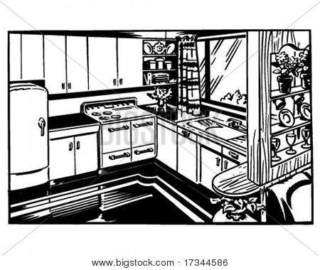 Retro Kitchen - illustraties
