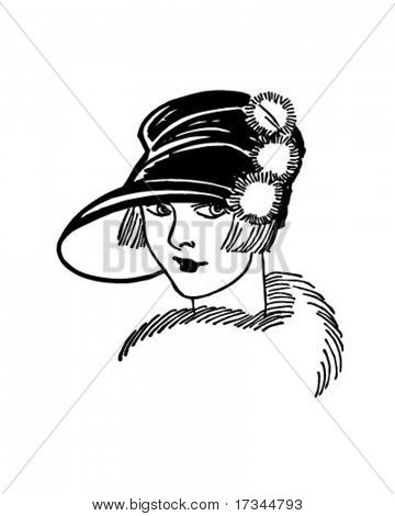 Twenties Gal - Retro Clip Art