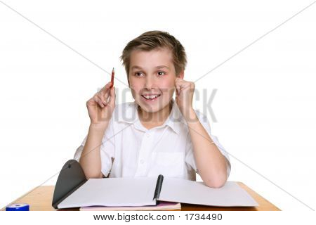 Bright Happy School Boy
