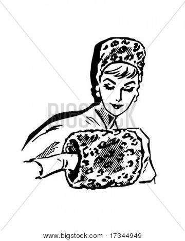 Leopard Skin Muffler - Retro Clip Art