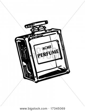 Bottle Of Perfume - Retro Clip Art
