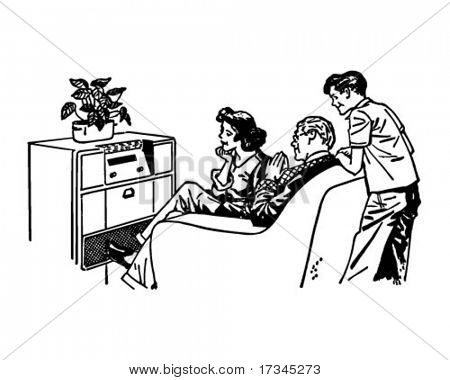 Our Favorite Radio Show - Retro Clip Art