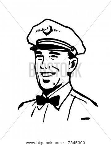 Service Man 2 - Retro Clip Art