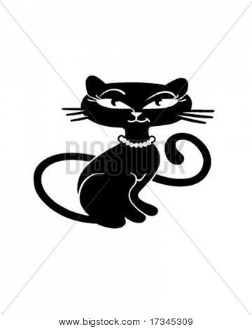 Kitty retro - Clip Art