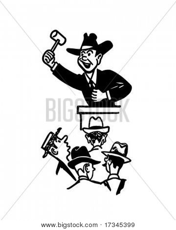 Auctioneer - Retro Clip Art