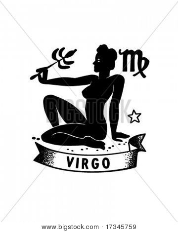 Zodiac - Virgo - Retro Clip Art