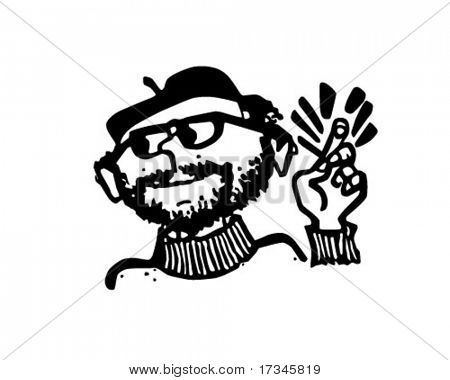Beatnik - Retro Clip Art