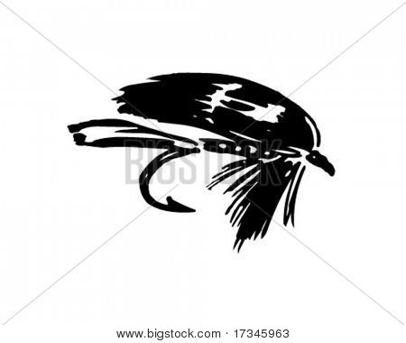Fishing Fly 5 - Retro Clip Art