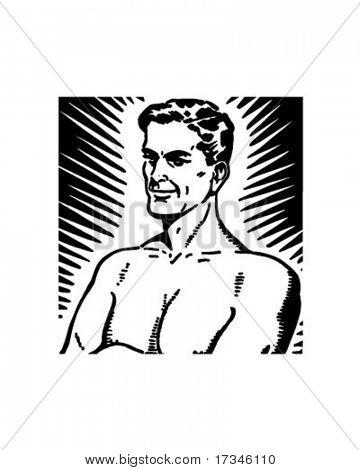 Homem de poder - Retro Clip-Art