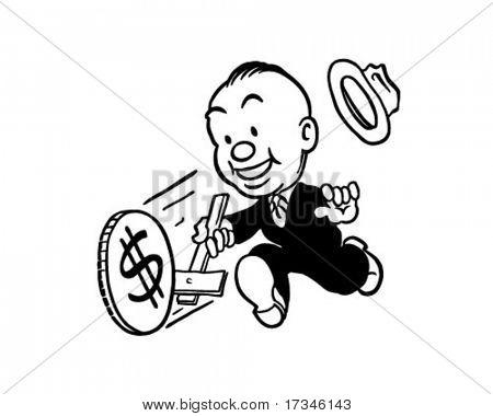 Money Wheel - Retro Clip Art