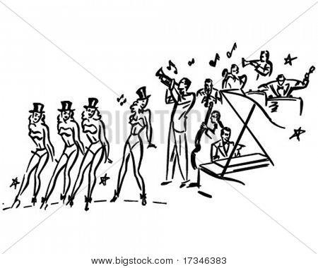 Chorus Line - Retro Clip Art