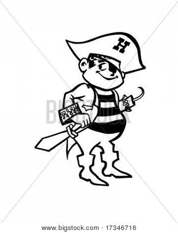 Pirate - Retro Clipart Illustration