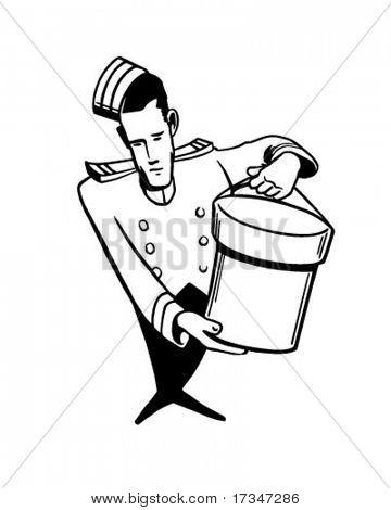 Hat Delivery - Retro Clipart Illustration
