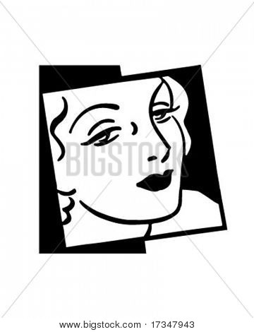 Woman In Vogue - Retro Clipart Illustration