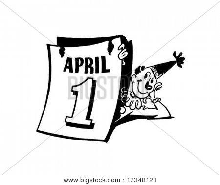 April Fools Clown - Retro Clipart Illustration
