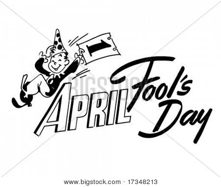 April Fool's Day - Ad Header - Retro Clipart