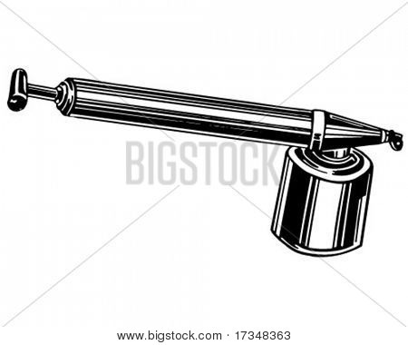 Hand Sprayer Pump - Retro Clipart Illustration