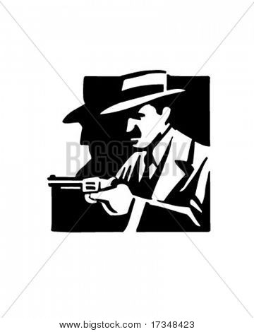 Mobster - Retro Clipart Illustration