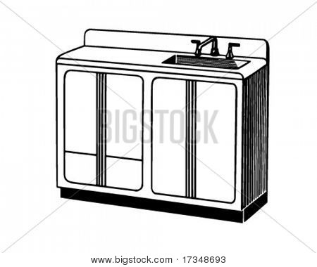 Sink - Retro Clipart Illustration