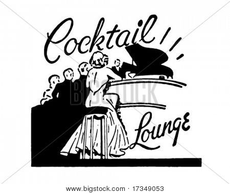 Cocktail Lounge - Retro Ad Art Banner