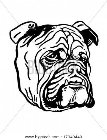 Bulldog - anuncio Retro arte ilustración