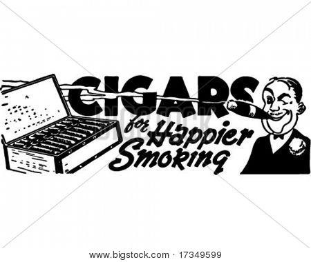 雪茄-复古广告艺术横幅 库存矢量图和库存照片 | big