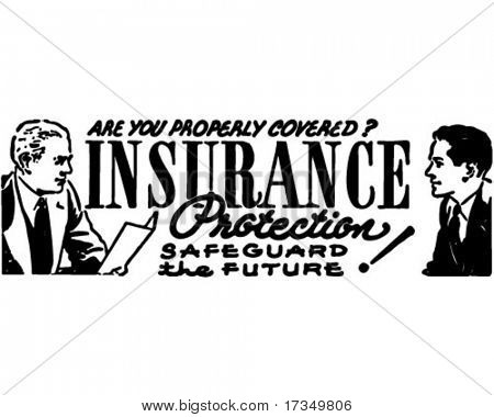 Insurance Protection - Safeguard The Future - Retro Ad Art Banner