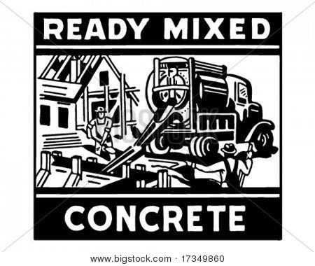 Ready Mixed Concrete - Retro Ad Art Banner