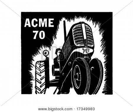 Tractor - Retro Ad Art Banner