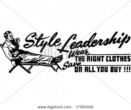 Style Leadership - Retro Ad Art Banner