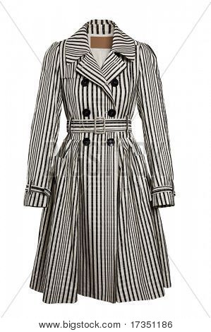 a striped coat