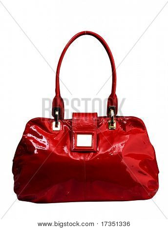 red woman bag