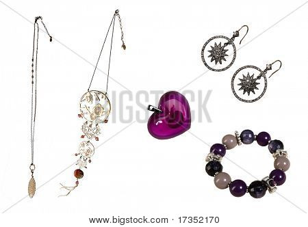 Set accessories of braslet beds Pendant  Necklace