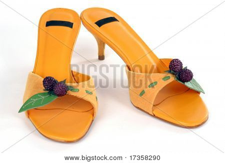 summer shoes isolated