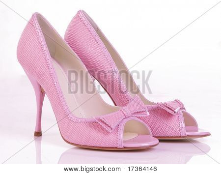 pink high heel shoes