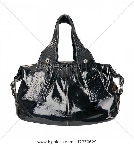 black patent bag