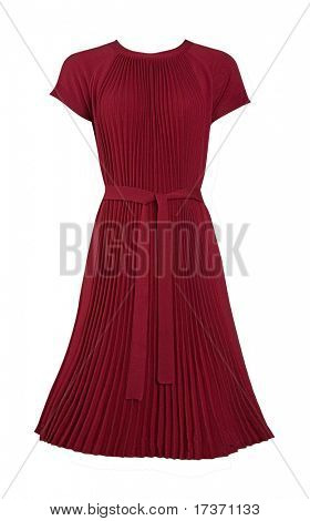 claret dress