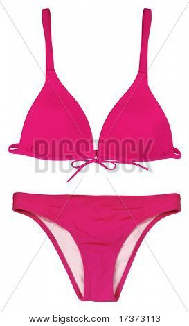 pink swimsuit