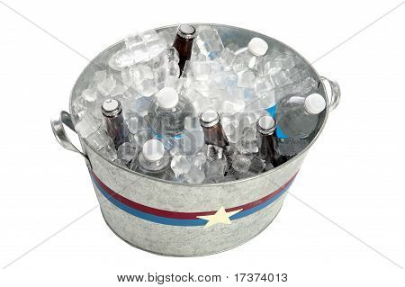Metal Tub Of Beverages