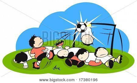 Football (soccer) battle field