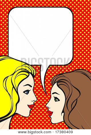 Comics style girls (raster version)
