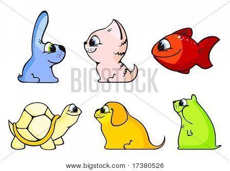 Funny animals (raster version)