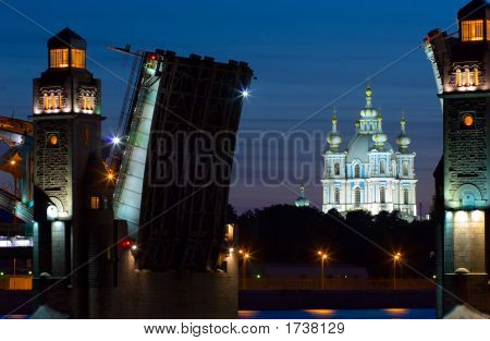 Smolny Cathedral And Drawbridge