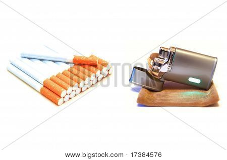 Cigarettes and lighter