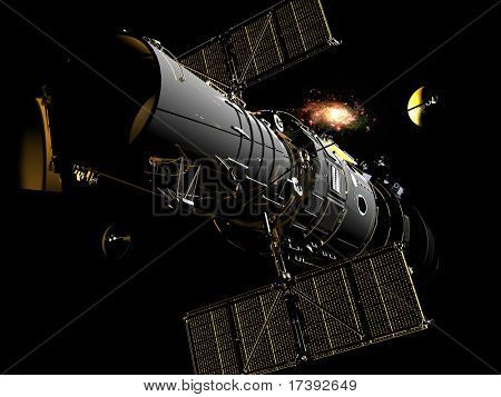 Space station in outer space