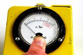 stock photo of geiger  - stock pictures of a geiger counter used to detect traces of nuclear radiation - JPG