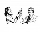 picture of pop art  - Couple Toasting  - JPG
