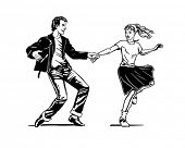 foto of rockabilly  - Retro Swing Dancing  - JPG